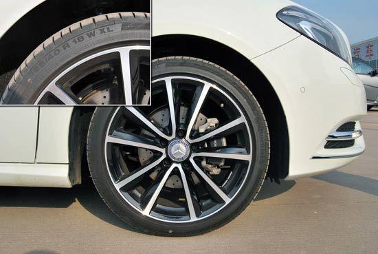 奔驰B200轮胎及轮毂