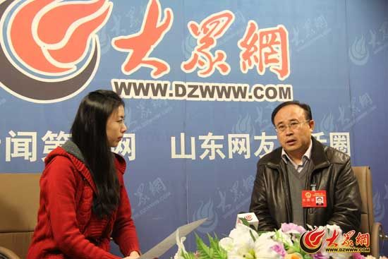 省人大代表、山东龙岗旅游集团董事长张善久接受大众网记者专访