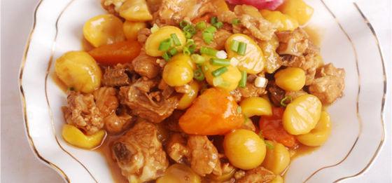 做出香甜图片a图片美味的板栗鸡_无锡微生营养山东美食江苏图片