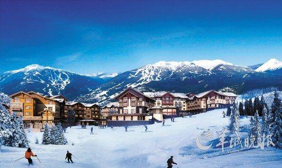 冬季长白山滑雪场迎来旅游旺季
