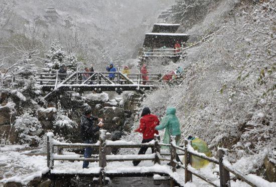 济南九如山雪景