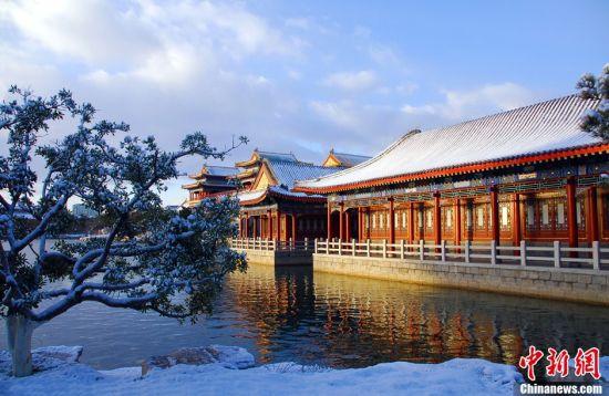 雪后蓬莱景区宛若仙境