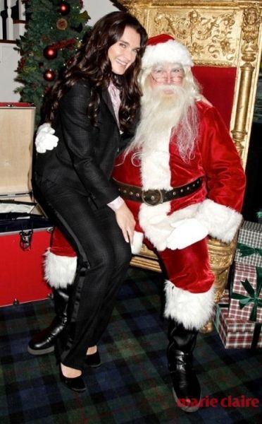 圣诞明星其乐融融 调戏圣诞老人才是正经事