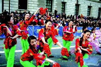 中国秧歌伦敦显风采