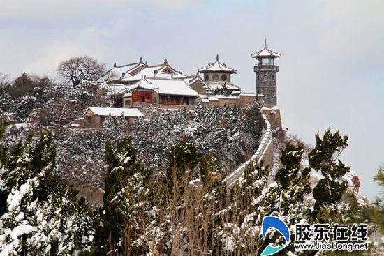 蓬莱市蓬莱阁景区雪景