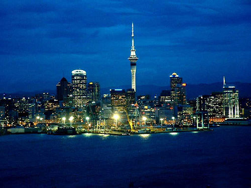新西兰的迷人夜景