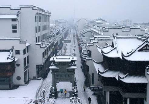婺源古城雪景