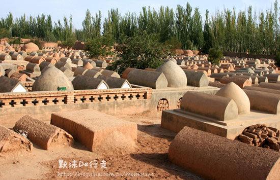 主墓室后面的墓葬群