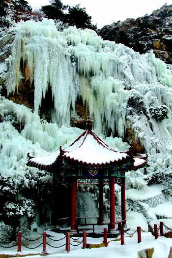 平度茶山冰瀑