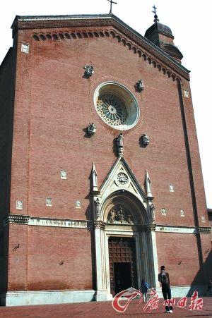 小镇中的教堂。