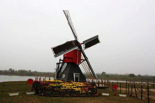 德元埤荷兰村的风车造景
