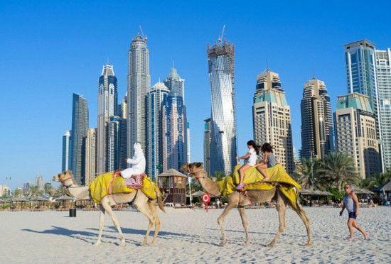 阿联酋迪拜的海滩风光