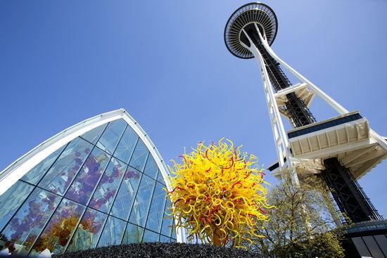 太空针塔与奇胡利玻璃 艺术园