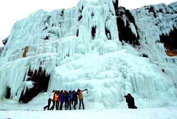 沂南香山冰瀑