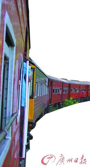 斯里兰卡的火车。
