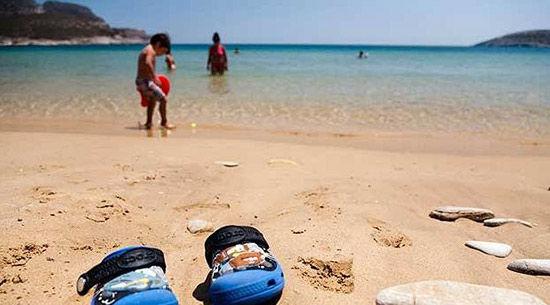 希腊帕罗斯岛海滩