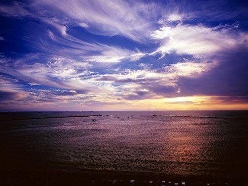 西子湾美丽的海景和夕照