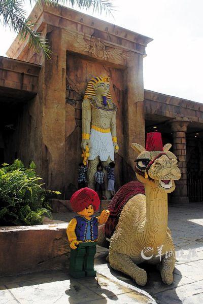 用积木砌出的埃及法老