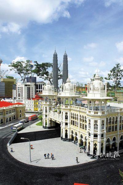 乐高积木搭建出来的吉隆坡