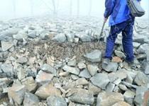 济南部分黄河备汛石垛以土充石