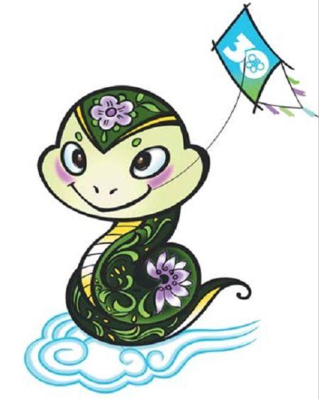 绿色花蛇代言今年风筝会