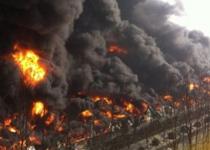 青岛保税区一橡胶仓库着火