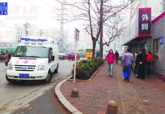 """""""虽然江西路是单行道,但急救车可以逆行返回医院,行驶路线符合相关"""