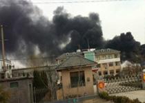 青州石化企业油罐起火1人重伤