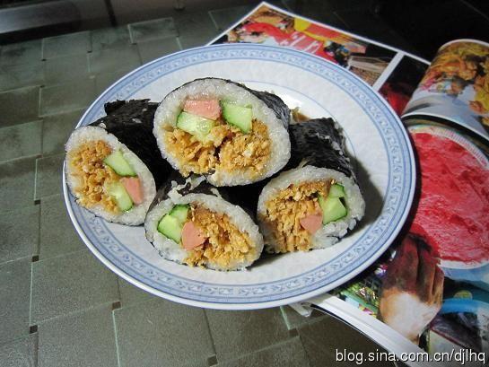 紫菜糯米饭包馓子