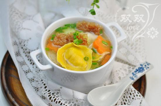 海茸金银饺