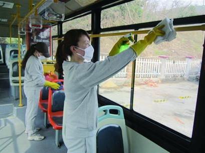 青岛公交大消毒