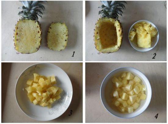 小清新的菠萝香肠炒饭