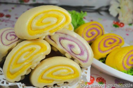 食色生香的紫薯南瓜卷