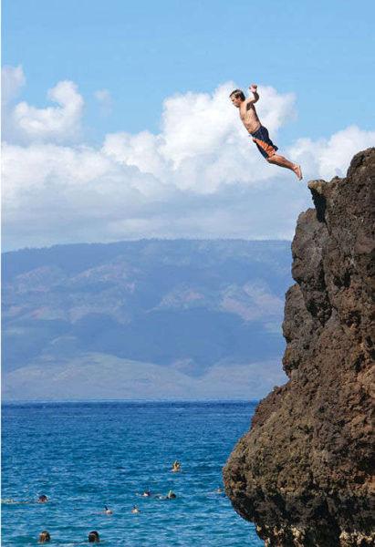 夏威夷Waimea 私奔跳跃者的天堂