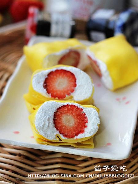 草莓季不能错过的甜美小食 草莓班戟