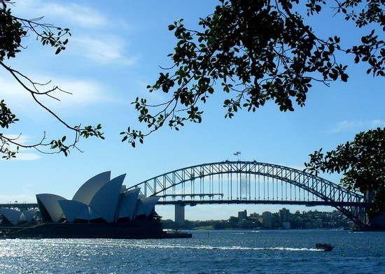 悉尼港湾乡村大铁桥