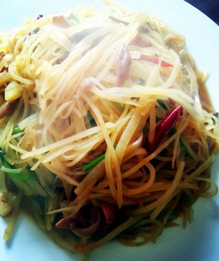 【热菜——土豆丝炒海肠】