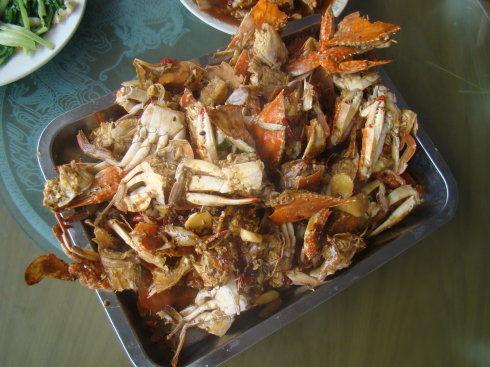 香辣梭子蟹。