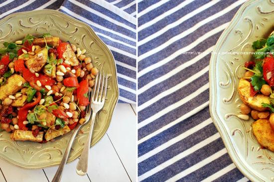 薄荷酥粒烤小羊排配烤番薯沙拉