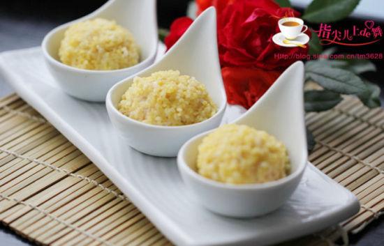 小米豆腐虾仁丸