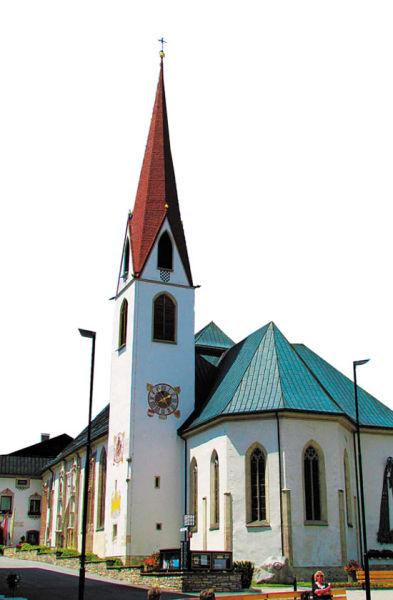 奥地利红瓦白墙的房子