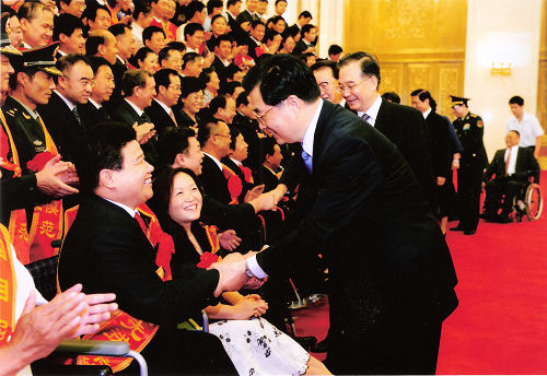 孙建博受到中央领导的亲切会见