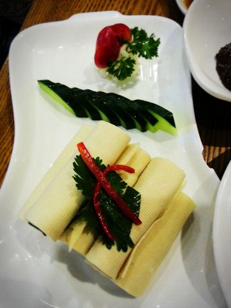 凉菜-豆皮卷饼