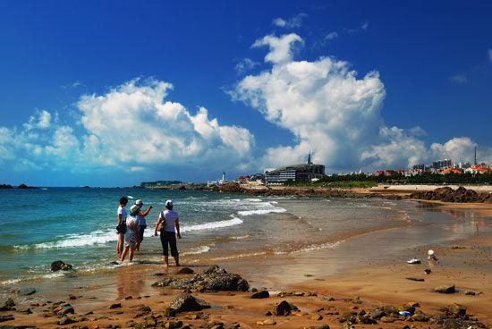 青岛迷人的海滩