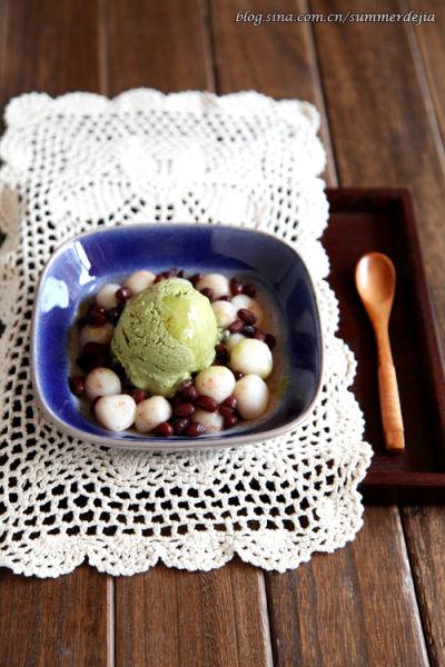 蜜豆抹茶冰激凌