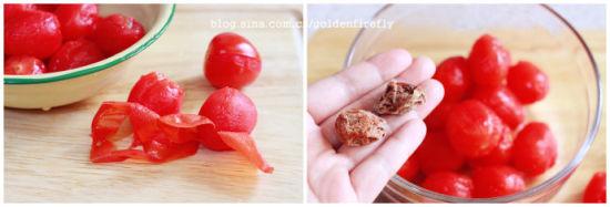 薄荷梅汁腌小蕃茄