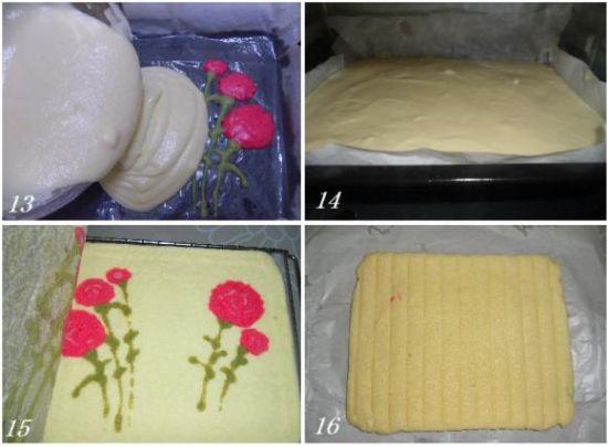 康乃馨蛋糕卷