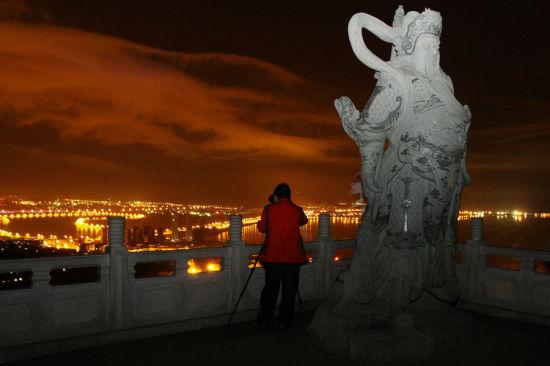 威海赤山 俯瞰夜景