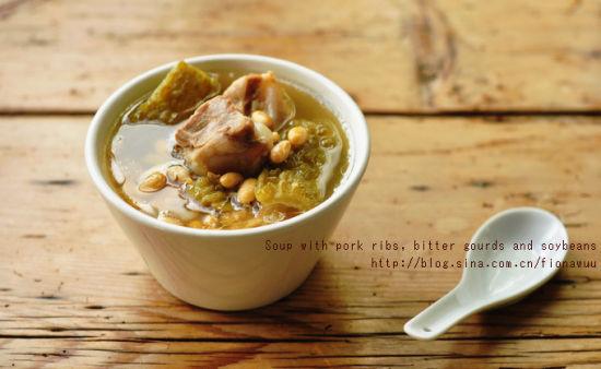 凉瓜黄豆猪骨汤