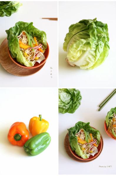 彩椒泡面生菜碗